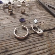 Work in Progress: Rustic Celestial Crescent Moon Rings