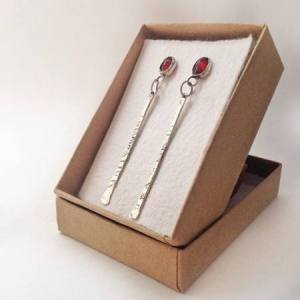 faceted-garnet-sterling-silver-dangle-earrings