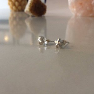 Coastal Karma Jewels - Everyday Dreamers Signature Collection: Silver Star Stud Earrings, Fine Silver