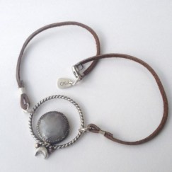 Twilight Jewels Collection: Karma Loop choker with faceted sapphire